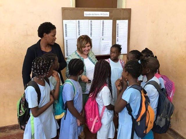 Rosario Cordero en su viaje a Santo Tomé y Príncipe