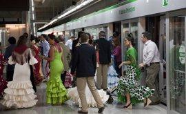 El metro contabiliza 572.230 viajeros en la primera mitad de su servicio especial de la Feria