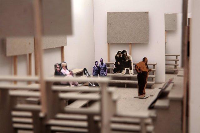 Imagen de la instalación de España en la Bienal de Venecia, de Jordi Colomer