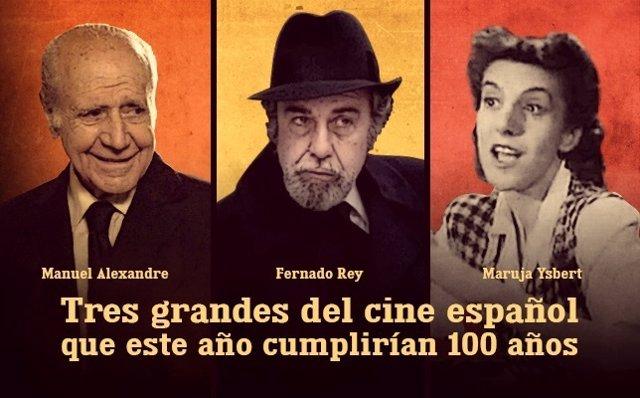 Maruja Ysbert, Fernando Rey y Manuel Alexandre