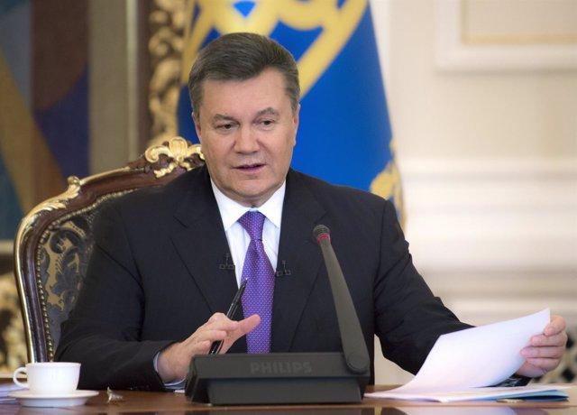 El Presidente Ucraniano, Viktor Yanukovich