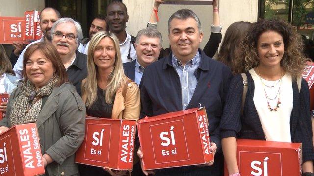 Pedro Sánchez da la sorpresa con más de 57.000 avales