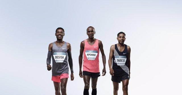 Kipchoge, Desisa y Tadese intentarán batir el récord de las 2 horas en maratón