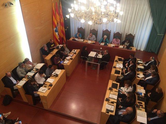 Pleno municipal del Ayuntamiento de Badalona (Archivo)