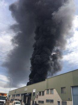Incendio en la localidad de Arganda
