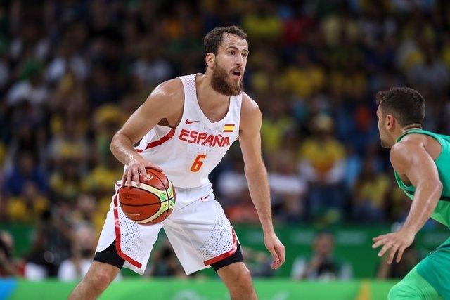 Sergio Rodríguez, jugador de la selección española