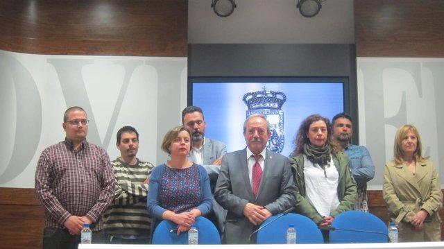 Miembros de la Junta de Gobierno del Ayuntamiento de Oviedo