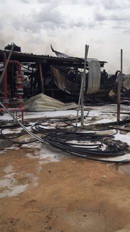 Incendio controlado en Arganda