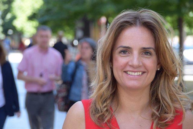 Susana Sumelzo, cabeza de lista del PSOE-Zaragoza al Congreso en 2016.