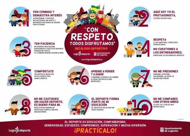 Campaña con respeto de Logroño Deporte