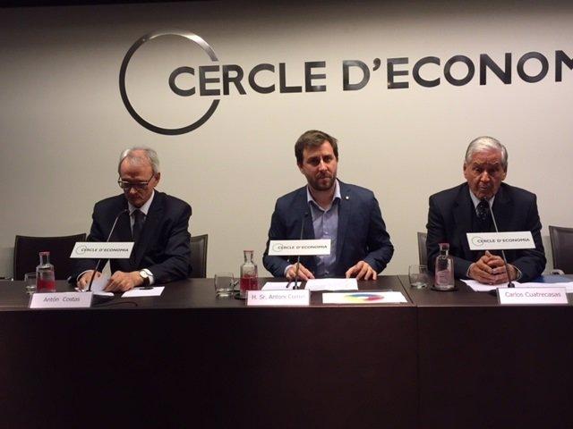 Antón Costas, Toni Comín y Carlos Cuatrecasas