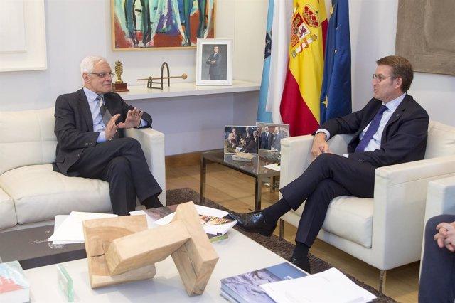 17,30 H.-   O Presidente Da Xunta, Alberto Núñez Feijóo, Acompañado Do Consellei