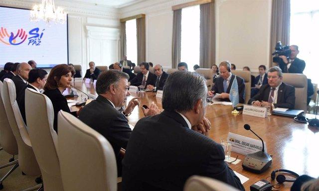 Juan Manuel Santos recibe al Consejo de Seguridad de la ONU