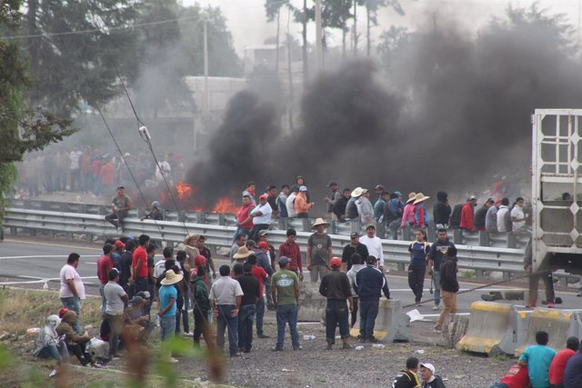 Protestas de los habitantes de Palmarito (Puebla)