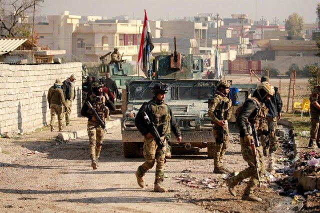 Las fuerzas iraquíes en Mosul