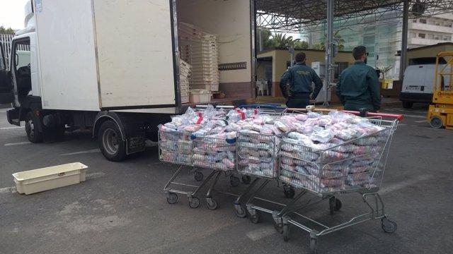 Droga incautada en Ceuta en un furgón isotérmico