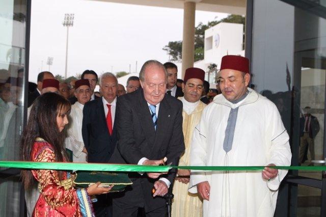 El Rey Juan Carlos con Mohamed VI