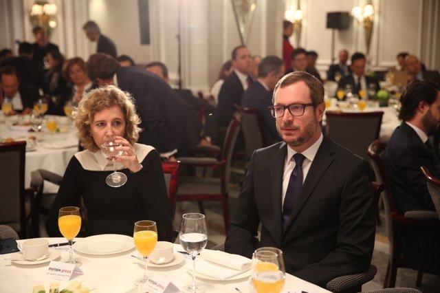 Javier Maroto en los Desayunos de Europa Press