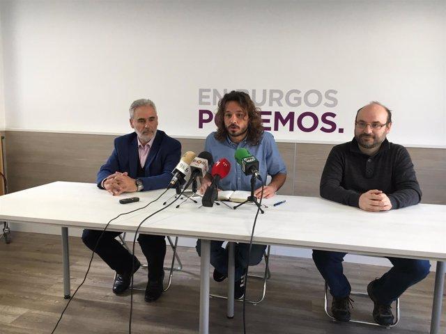 Marco Antonio Manjón, Miguel Vila y Marcos Peña (de izquierda a derecha)