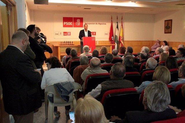 Gómez de Celis, en un acto en Algeciras