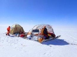 Trineo de Viento en la Expedición de Groenlandia de Ramón Larramendi