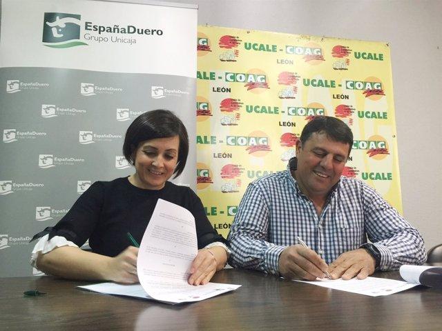 FIRMA DEL ACUERDO ENTRE ESPAÑA DUERO Y UCALE-COAG