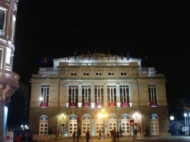 Teatro Campoamor en la víspera de los Premios Princesa de Asturias 2016