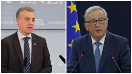 Juncker, que no recibió a Puigdemont, se verá con Urkullu para hablar de temas económicos y de refugiados