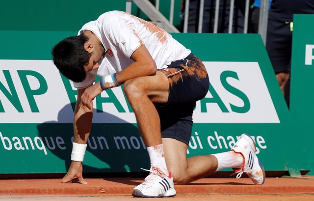 El tenista serbio Novak Djokovic tras perder en Montecarlo