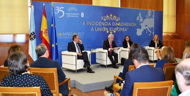 Jornada en el Parlamento gallego sobre incidencia de la adhesión a la UE.