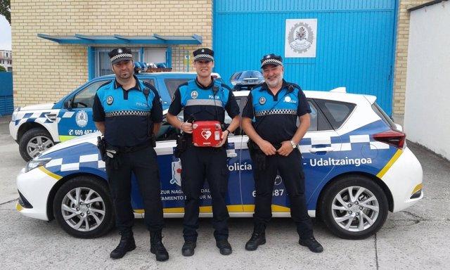 Policías de Zizur Mayor.