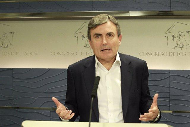 Rueda de prensa de Pedro Saura en el Congreso