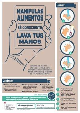 Campaña dirigida a manipuladores de alimentos