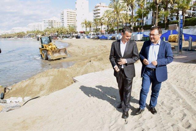 Heredia y bernal marbella playas estabilización obras arena regeneración