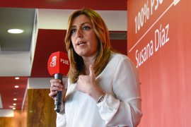"""Susana Díaz dice que hay quien está contento """"por ser segundo"""" por tercera vez"""