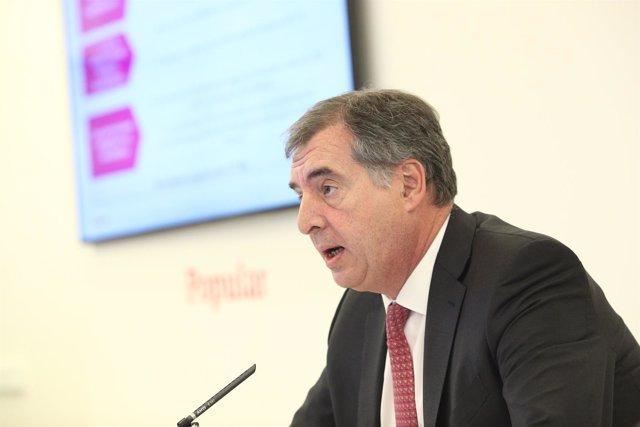 El consejero delegado de Popular, Ignacio Sánchez-Asiaín, presenta resultados