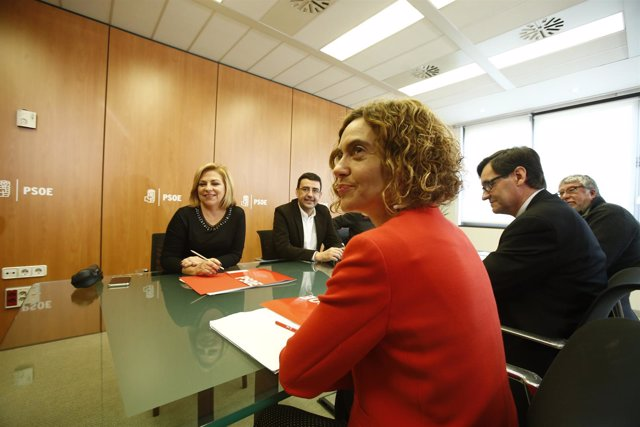 Primera reunión de la Comisión Negociadora PSOE-PSC