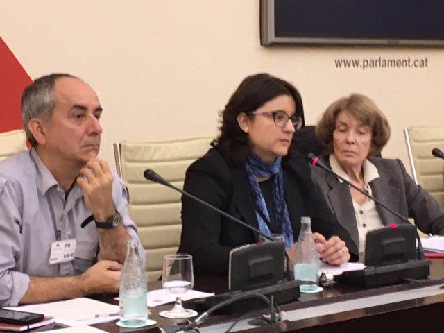 La abogada Blanca Padrós en el Parlament