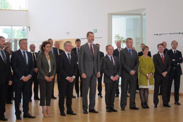 El Rey Felipe VI en un acto en San Sebastián