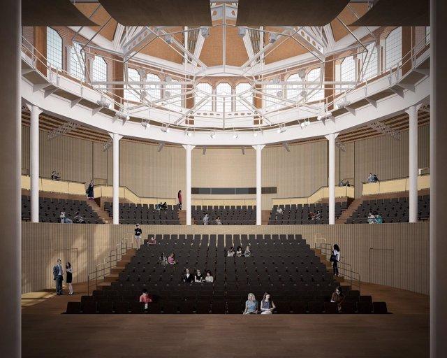 Proyecto de Auditori Einstein en la Escola Industrial de Barcelona