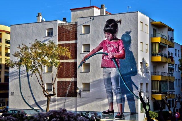 Estepona murales concurso internacional pintura aire libre arte edificio concurs