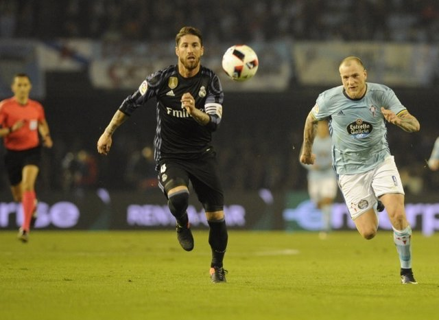 Sergio Ramos John Guidetti Real Madrid Celta