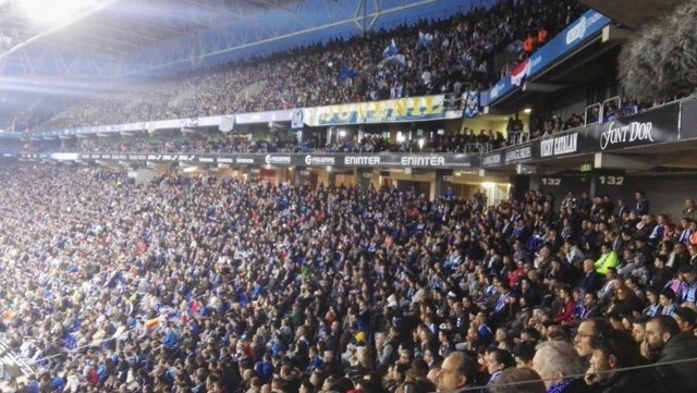 Espanyol grada aficionados seguidores RCDE Stadium