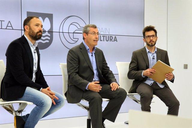 Denis Itxaso, Markel Olano y Carlos Muguiro