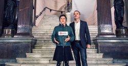 Gala Pin y Jaume Collboni en el edificio del Borsí