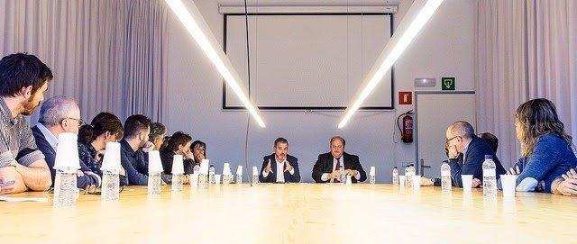 Collboni con representantes de empresas que participan a la NYCxDesign