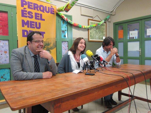 Miembros del comité del Pacte pel Referèndum J.I.Elena, I.González y F.Dalmases