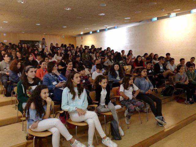 Alumnos en la primera jornada de Encuentros de Alumnado Mediador de Mallorca