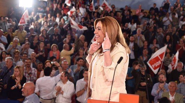 Susana Díaz, en un acto en Hinojos.