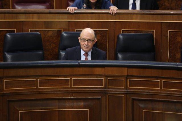 Cristóbal Montoro en el debate sobre los Presupuestos